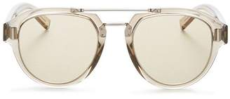 Christian Dior Men's Fraction Brow Bar Aviator Sunglasses, 50mm