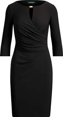 Ralph Lauren Keyhole Stretch Jersey Dress
