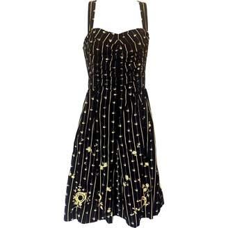 Anthropologie Black Cotton Dress for Women