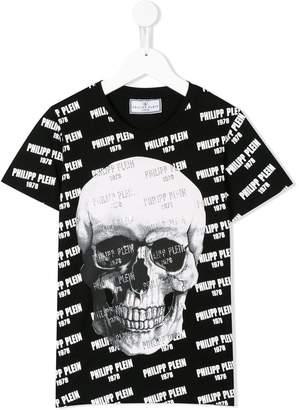 Philipp Plein Junior repeated logo print T-shirt