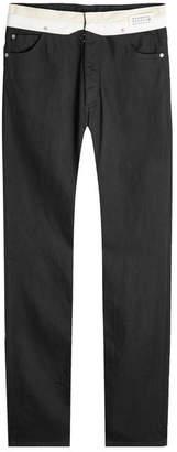 Maison Margiela Jeans with Contrast Waistband