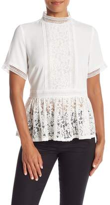 Catherine Malandrino Lace Short Sleeve Blouse