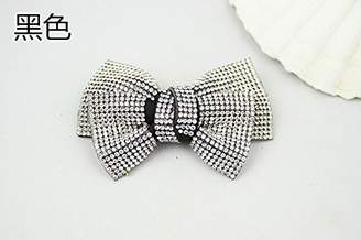 Shoe Accessories Douqu A Pair /Pink Velvet Bow Rhinestone Crystal Wedding Bridal Shoe Clips