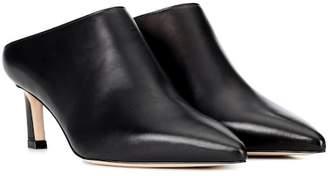 Stuart Weitzman Mira leather mules