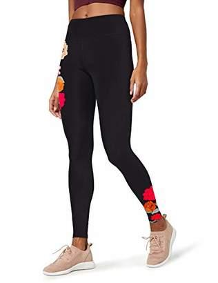 AURIQUE Floral Print Legging Sports Tights,(size: Large)