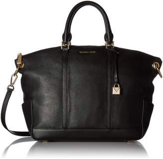 Michael Kors Women's Large Beckett Small Pebble Top Zip Leather Shoulder Bag Satchel
