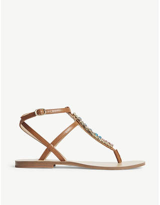 Aldo Whitwell embellished T-bar sandals
