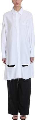 Maison Margiela White Cotton Shirt Dress