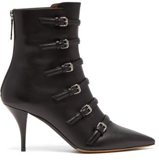 Tabitha Simmons Dash Buckled Leather Boots - Womens - Black