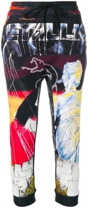 R 13 graphic print track trousers