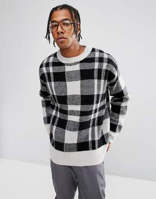 Weekday Checked Ken Knitted Sweater