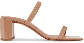 BY FAR - Tanya Patent-leather Mules - Neutral