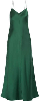 Guinevere Silk-satin Maxi Dress - Emerald