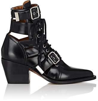 Chloé Women's Double Buckle Leather Ankle Boots