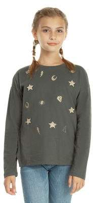 Dex Girl's Embroidered Long-Sleeve Tee