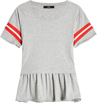 Steffen Schraut Cotton Top with Striped Sleeves