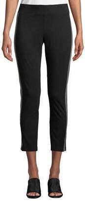 Eileen Fisher Jersey Side-Striped Ankle Pants