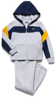 Lacoste Boys' SPORT Fleece And Taffeta Tennis Tracksuit