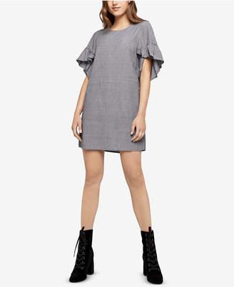 BCBGeneration Pinstripe Ruffle-Sleeve Dress