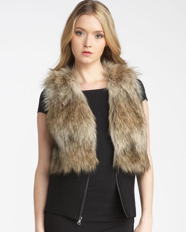 Juicy Couture Faux Coyote Fur Vest