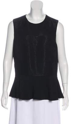 Ralph Lauren Black Label Textured Sleeveless Top