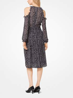 MICHAEL Michael Kors Leopard and Plaid Peekaboo Dress