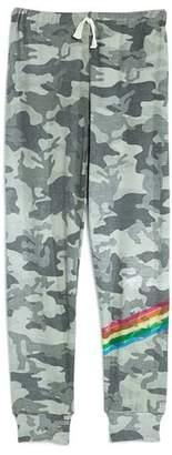Flowers by Zoe Girls' Camo-Print Rainbow Stripe Sweatpants - Big Kid