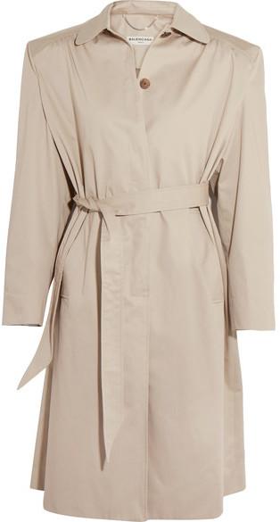 Balenciaga Balenciaga - Cotton-twill Trench Coat - Beige