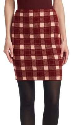Akris Punto Tweed Check Mini Skirt