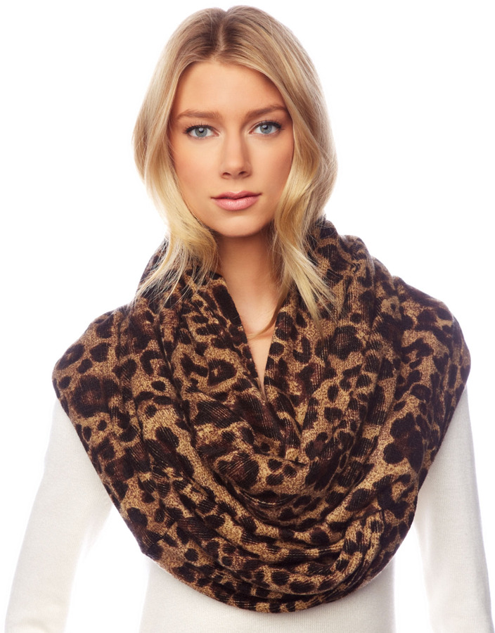 MICHAEL Michael Kors  Leopard-Print Infinity Scarf