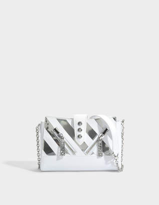 Kenzo Kalifornia Mini Shoulder Bag in White Iceberg / Lame