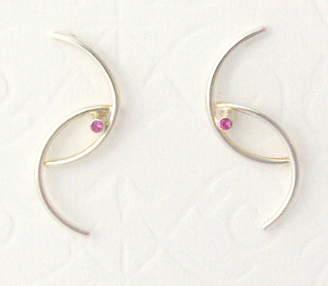 Julia Ann Davenport Jewellery Wishbone Sapphire Earrings