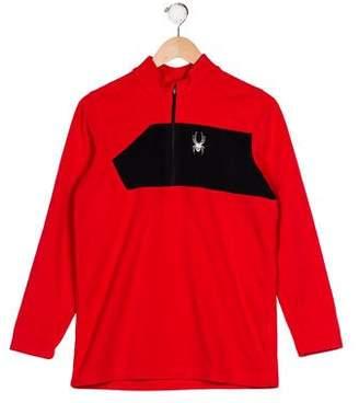 Spyder Boys' Fleece Embroidered Sweater