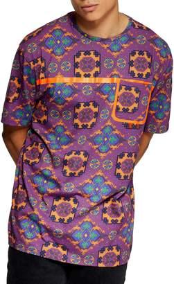 Topman Tapestry Print Pocket T-Shirt