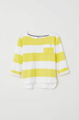 H&M Striped jersey top - Yellow