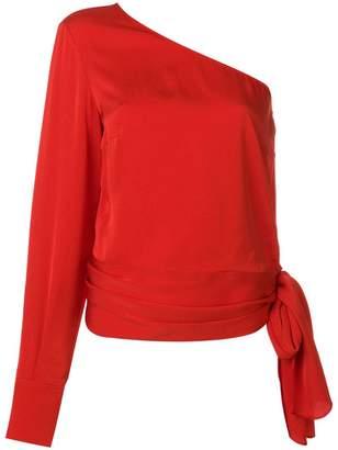 Stella McCartney one shoulder cady blouse