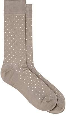 Paul Smith Men's Pin Dot Cotton-Blend Mid-Calf Socks