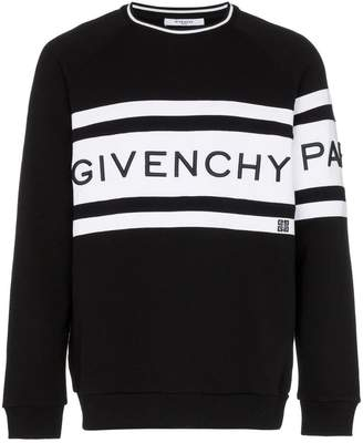 Givenchy cotton large logo crew neck sweater