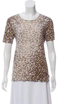 Raquel Allegra Print Short Sleeve Top