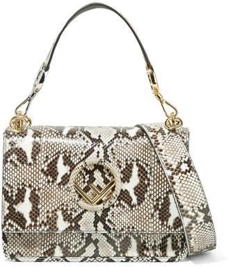 Fendi Kan I Python Shoulder Bag - Snake print
