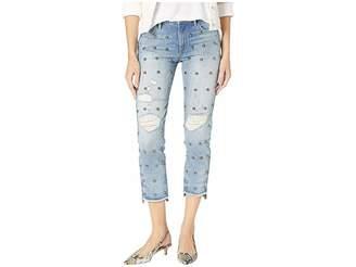 Juicy Couture Denim Dome Stud Embellished Boyfriend Jeans Women's Jeans