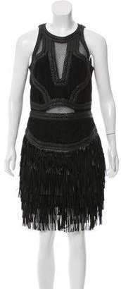 Amen Lace Fringe-Trimmed Dress w/ Tags