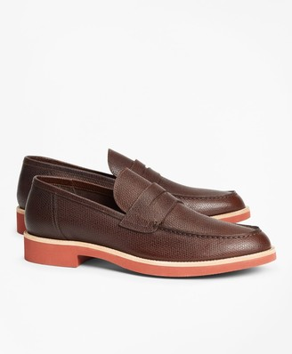Brooks Brothers Textured Leather Penny Loafer