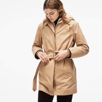 Lacoste Women's 3-in-1 Detachable Jacket Hooded Cotton Canvas Parka