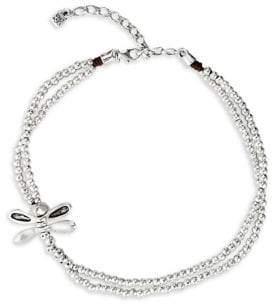 Uno de 50 Little Dragonfly Swarovski Crystal Layered Choker Necklace