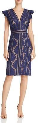 Tadashi Shoji Ruffled Lace Dress