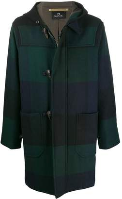 Paul Smith hooded check duffle coat
