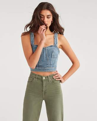 7 For All Mankind Fray Bustier in Muse