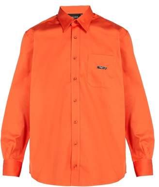 Ribeyron - Point Collar Cotton Poplin Shirt - Mens - Orange
