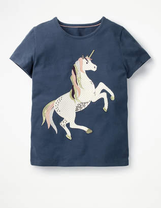 Boden Unicorn Sequin T-shirt